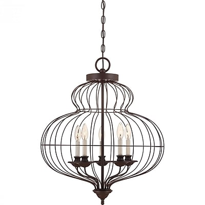 Quoizel LLA5205RA Incandescent Chandelier, Rustic Antique Bronze