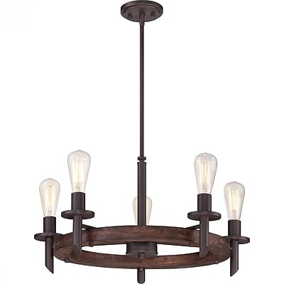 Quoizel TVN5005DK Incandescent Chandelier, Darkest Bronze