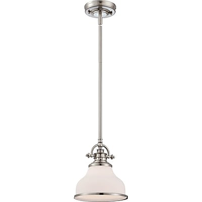 Quoizel GRT1508BN Incandescent Mini Pendant, Brushed Nickel