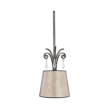 Quoizel KD1507MM Incandescent Mini Pendant, Mottled Silver