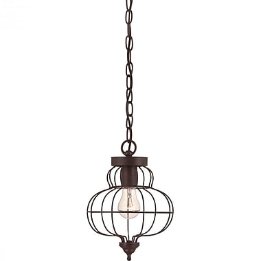 Quoizel LLA1508RA Incandescent Mini Pendant, Rustic Antique Bronze