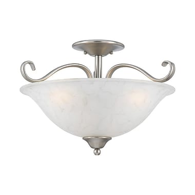 Quoizel DH1718AN Incandescent Semi-Flush Mount, Antique Nickel