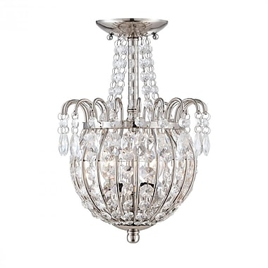 Quoizel JLE1709IS Incandescent Semi-Flush Mount, Imperial Silver
