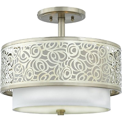 Quoizel JS1715BN Compact Fluorescent Semi-Flush Mount, Brushed Nickel