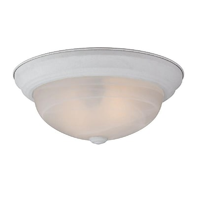 Quoizel MNR1613W Incandescent Flush Mount, Fresco