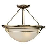 Quoizel NA1716BN Compact Fluorescent Semi-Flush Mount, Brushed Nickel