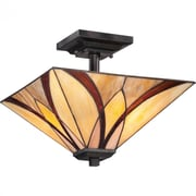 Quoizel TFAS1714VA Compact Fluorescent Semi-Flush Mount, Valiant Bronze