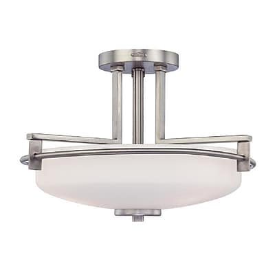 Quoizel TY1716AN Compact Fluorescent Semi-Flush Mount, Antique Nickel