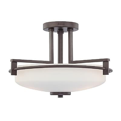 Quoizel TY1716WT Compact Fluorescent Semi-Flush Mount, Western Bronze