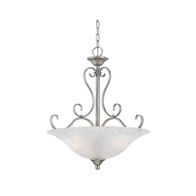 Quoizel DH2820AN Incandescent Pendant, Antique Nickel/White Shade