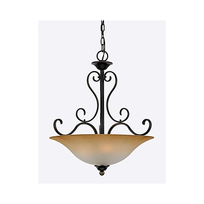 Quoizel DH2820PN Incandescent Pendant, Palladian Bronze/Brown Shade