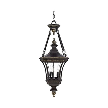 Quoizel DE1490IB Incandescent Hanging Lantern, Imperial Bronze