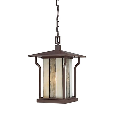 Quoizel LNG1911CHB Chocolate Bronze Hanging Lantern, Incandescent