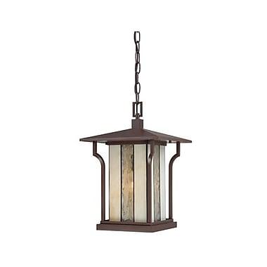 Quoizel LNG1911CHBFL Chocolate Bronze Hanging Lantern, CFL