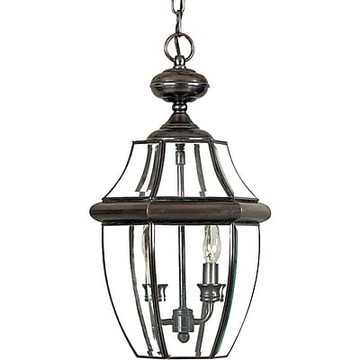 Quoizel NY1178AC Incandescent Hanging Lantern, Aged Copper