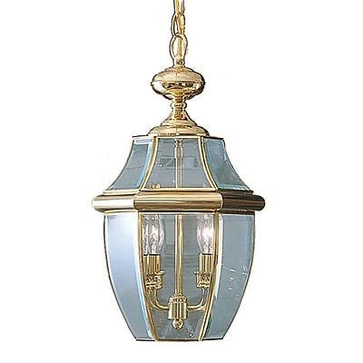 Quoizel NY1178B Incandescent Hanging Lantern, Polished Brass