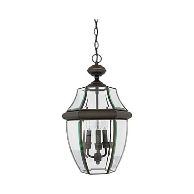 Quoizel NY1179Z Incandescent Hanging Lantern, Medici Bronze