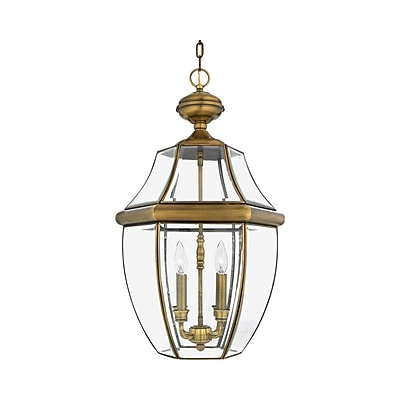 Quoizel NY1180A Incandescent Hanging Lantern, Antique Brass