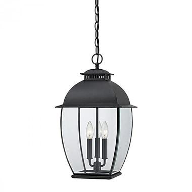 Quoizel BAN1911K Incandescent Hanging Lantern, Mystic Black