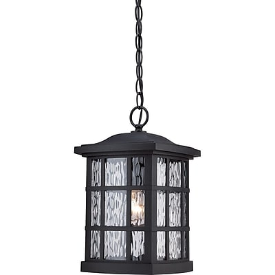 Quoizel SNN1909K Mystic Black Hanging Lantern, Incandescent