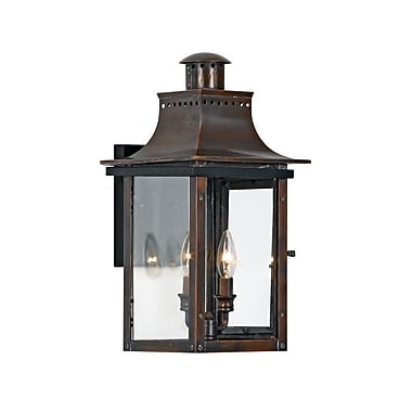Quoizel CM8410AC Incandescent Wall Lantern, Aged Copper