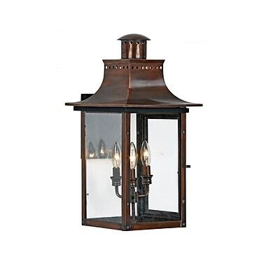 Quoizel CM8412AC Incandescent Wall Lantern, Aged Copper