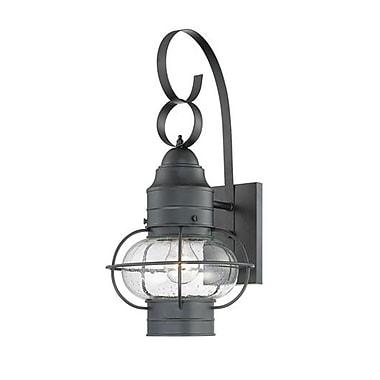 Quoizel COR8410KFL Mystic Black Wall Lantern, CFL