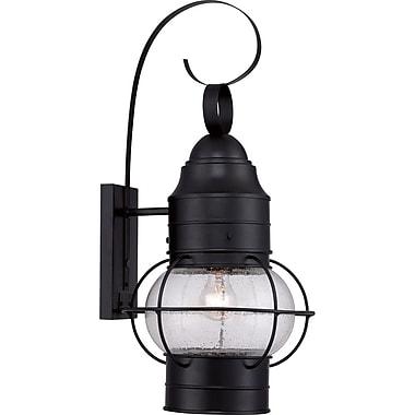 Quoizel COR8412K Mystic Black Wall Lantern, Incandescent