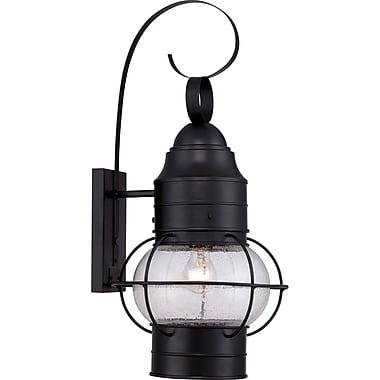 Quoizel COR8412KFL Mystic Black Wall Lantern, CFL