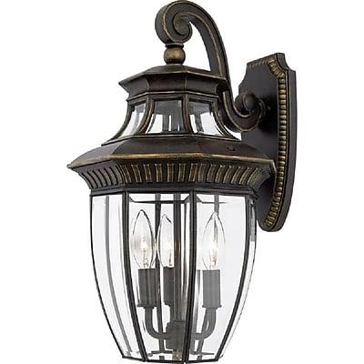 Quoizel GT8981IB Incandescent Wall Lantern, Imperial Bronze