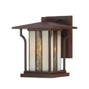 Quoizel LNG8407CHB Chocolate Bronze Wall Lantern, Incandescent