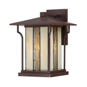 Quoizel LNG8409CHB Chocolate Bronze Wall Lantern, Incandescent