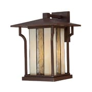 Quoizel LNG8411CHB Chocolate Bronze Wall Lantern, Incandescent