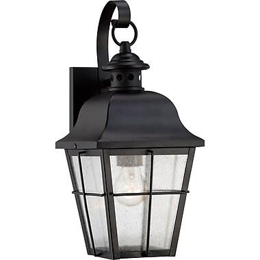 Quoizel MHE8406K Mystic Black Wall Lantern, Incandescent