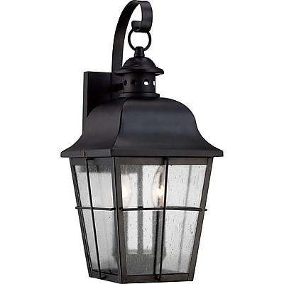 Quoizel MHE8409K Incandescent Wall Lantern, Mystic Black