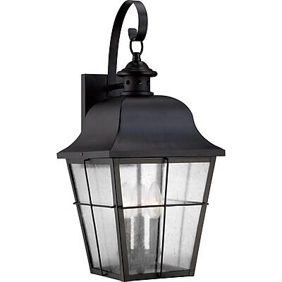 Quoizel MHE8410K Incandescent Wall Lantern, Mystic Black