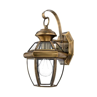 Quoizel NY8315A Incandescent Wall Lantern, Antique Brass