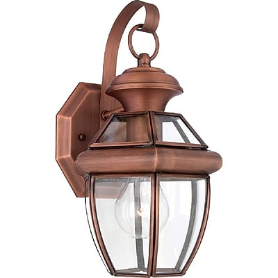 Quoizel NY8315AC Incandescent Wall Lantern, Aged Copper