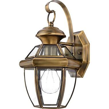 Quoizel NY8315AFL CFL Wall Lantern, Antique Brass