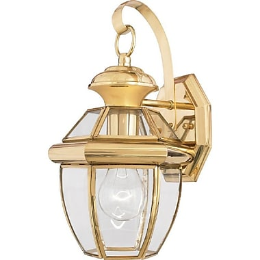 Quoizel NY8315B Incandescent Wall Lantern, Polished Brass