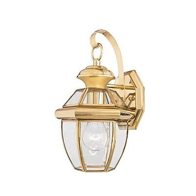 Quoizel NY8315BFL CFL Wall Lantern, Polished Brass