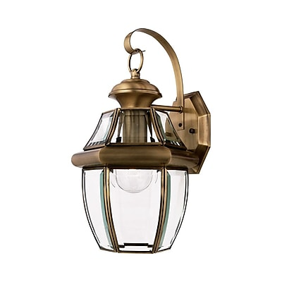 Quoizel NY8316A Incandescent Wall Lantern, Antique Brass
