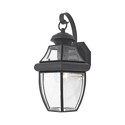 Quoizel NY8316K Incandescent Post Lantern, Mystic Black