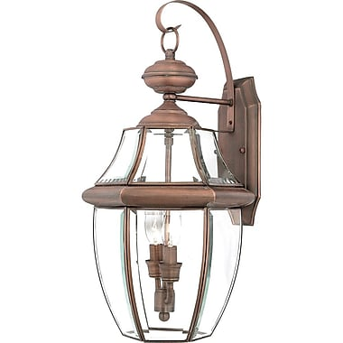 Quoizel NY8317AC Incandescent Wall Lantern, Aged Copper