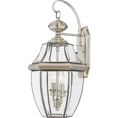 Quoizel NY8317P Incandescent Wall Lantern, Pewter