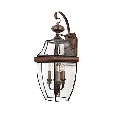Quoizel NY8318AC Incandescent Wall Lantern, Aged Copper