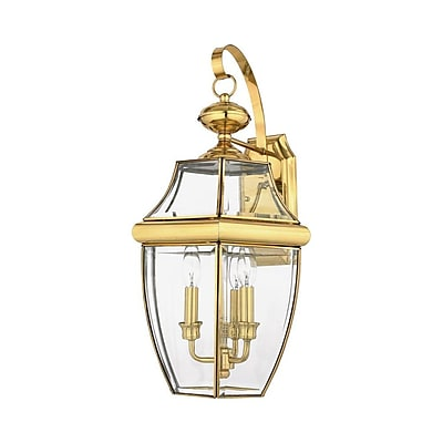 Quoizel NY8318B Incandescent Post Lantern, Polished Brass