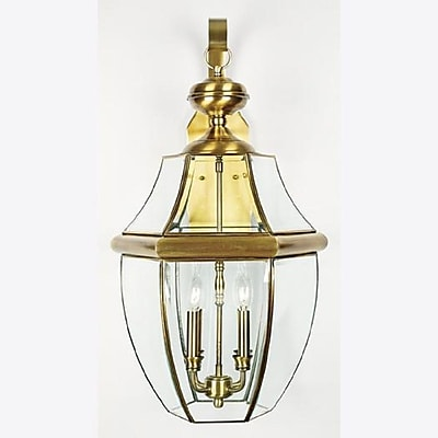 Quoizel NY8339A Incandescent Wall Lantern, Antique Brass