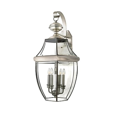 Quoizel NY8339P Incandescent Wall Lantern, Pewter