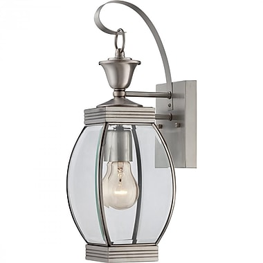 Quoizel OAS8406P Pewter Wall Lantern, Incandescent